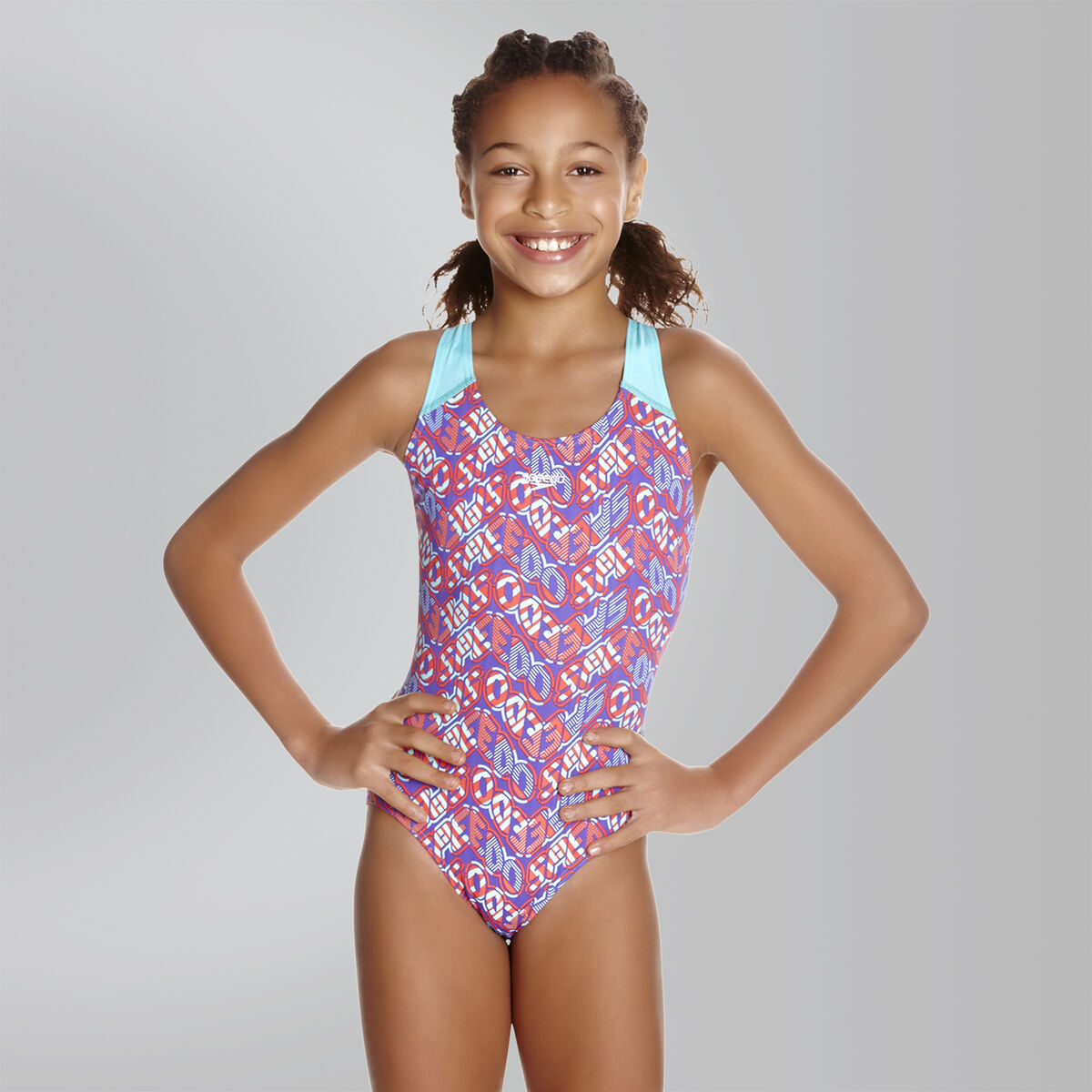 Speedo Pop Science Allover Splashback Jr.