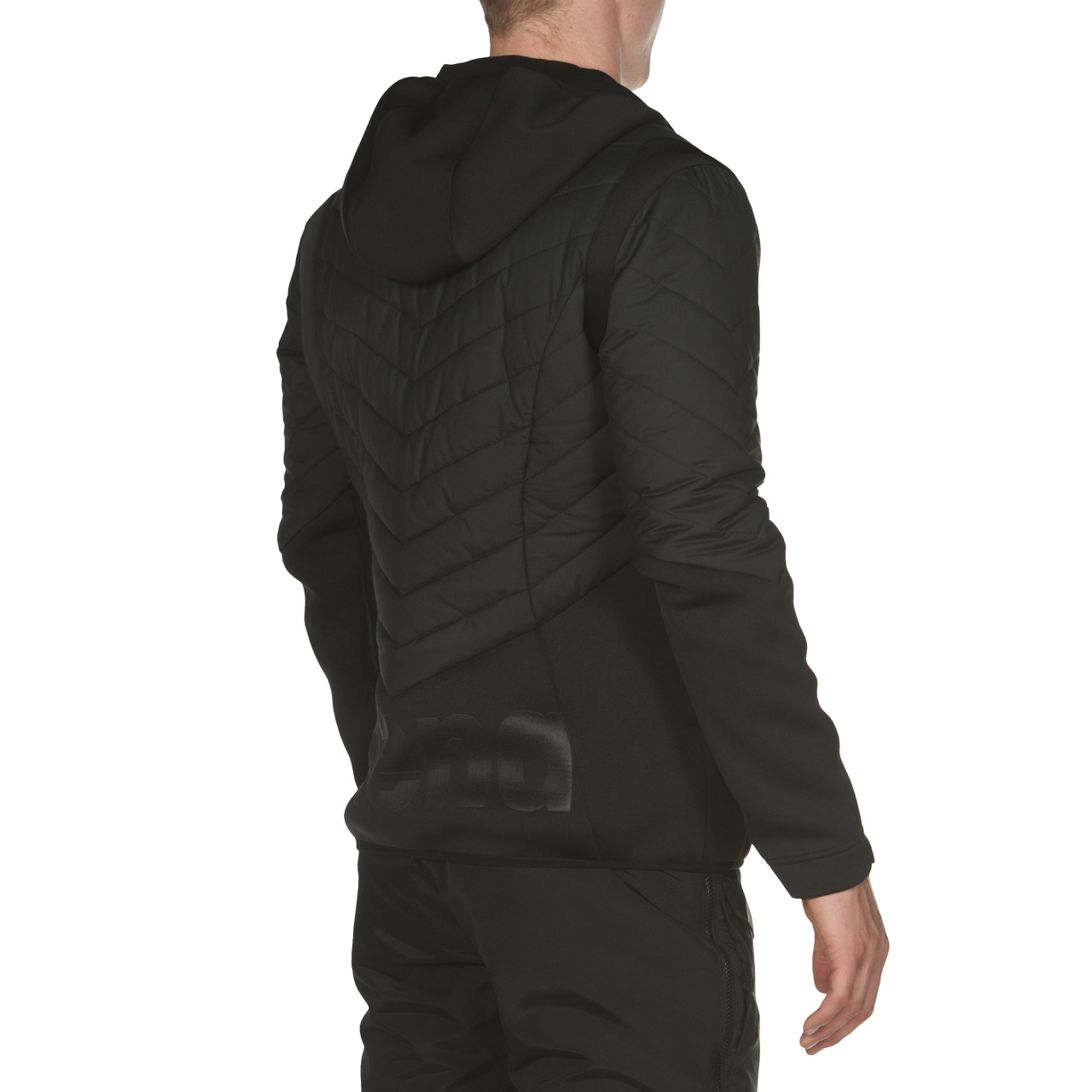Arena Hooded Half-Quilted Jacket