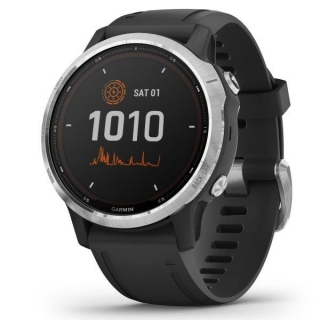 Garmin fenix6S Solar, Silver/Black Band